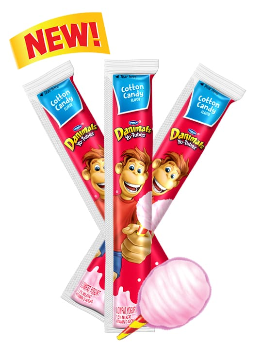 Cotton Candy Yo-Tube Kids Yogurt Tube