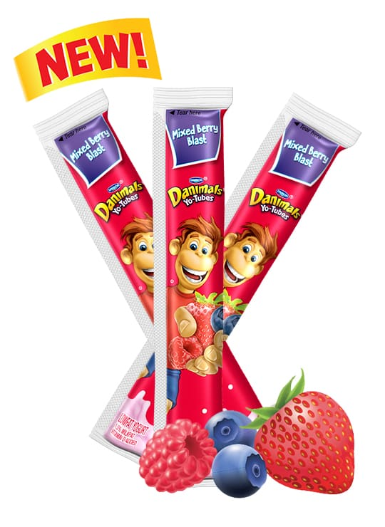 Mixed Berry Yo-Tube Kids Yogurt Tube