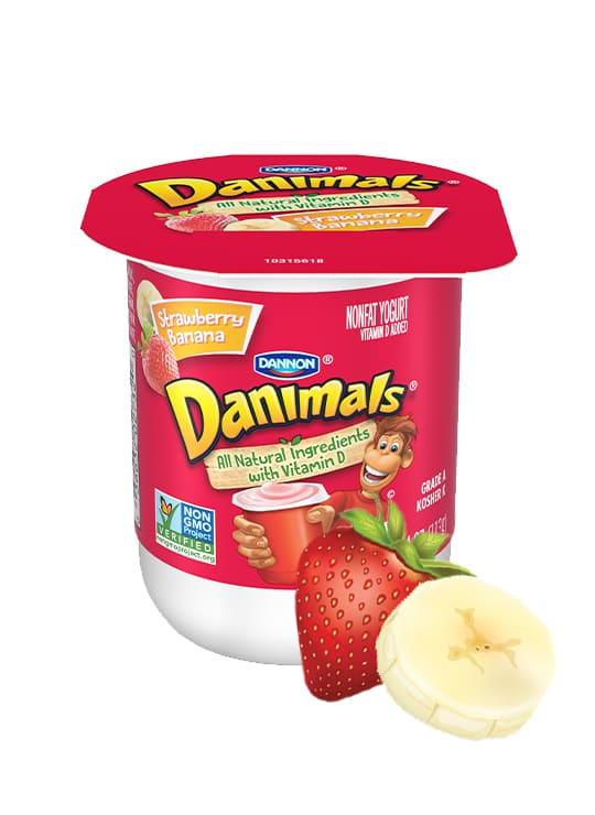 Strawberry Banana Kids Nonfat Yogurt