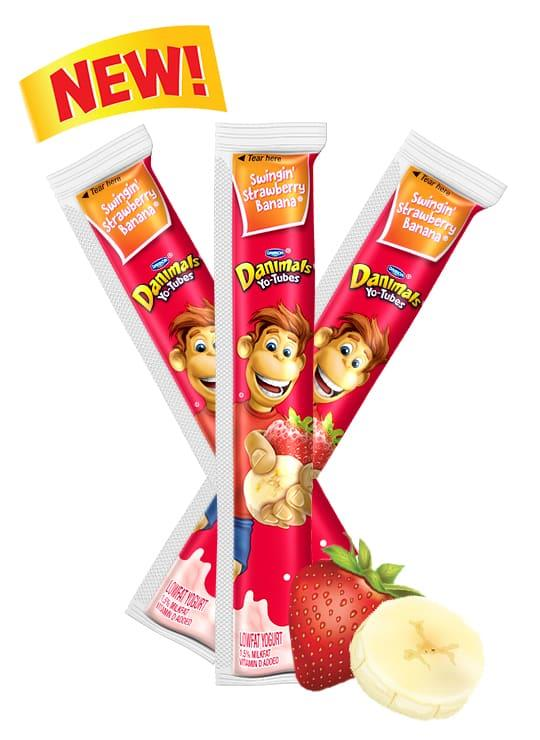Strawberry Banana Yo-Tube Kids Yogurt Tube