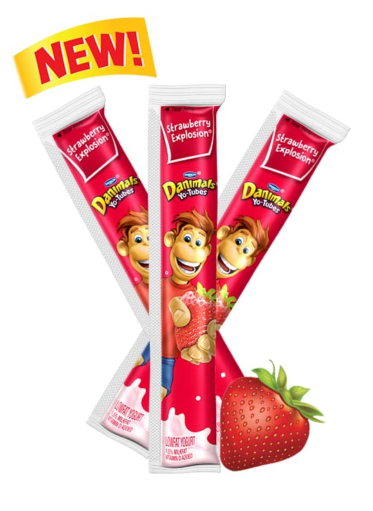 Strawberry Yo-Tube Kids Yogurt Tube