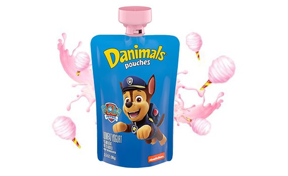 Cotton Candy Kids Squeezable Yogurt Pouch