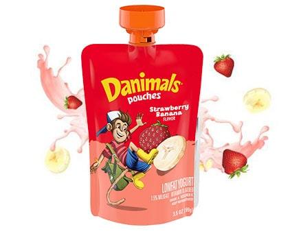 Strawberry Banana Kids Squeezable Yogurt Pouch