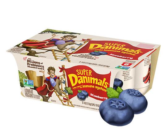 Super Danimals Cups Blueberry