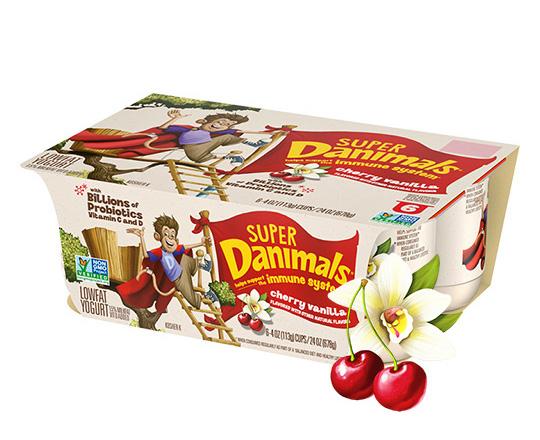 Super Danimals Cups Cherry Vanilla