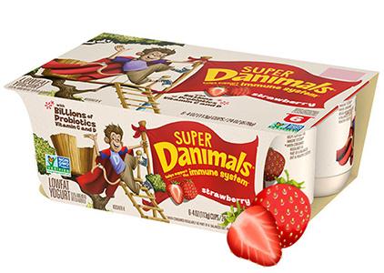 Super Danimals Cups Strawberry
